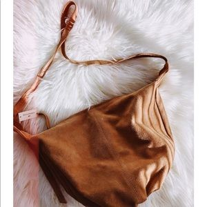 NWT • Genuine Suede Hobo Crossbody